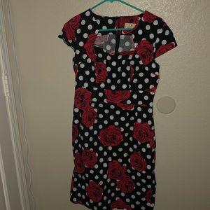 Retro rose dress